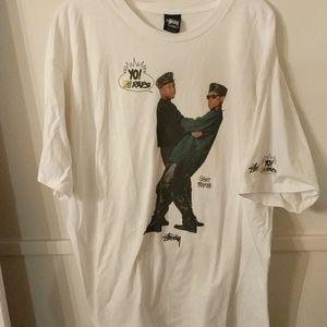 Stussy Gang Starr Yo MTV Raps T-shirt XXL